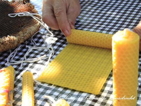 Bijenwaskaarsen maken